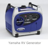 This quiet Yamaha RV portable generator runs on gasoline.